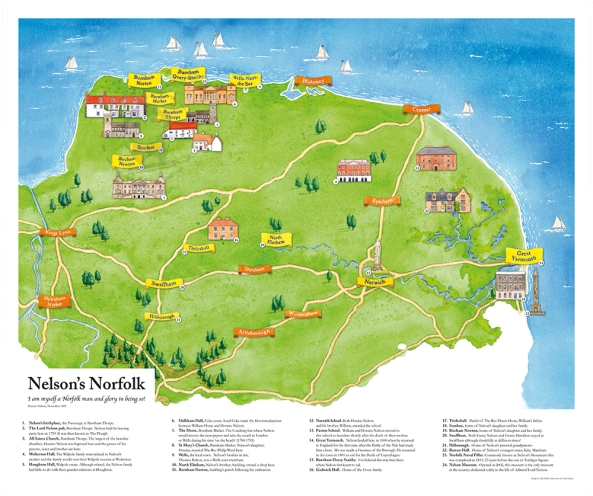 Nelson's Norfolk Map