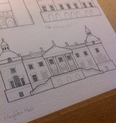 Pencil work for Houghton Hall